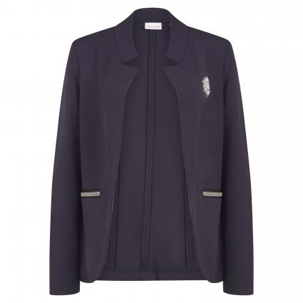 Blazer en jersey avec appliqué en pierre bleu (793 deep blue) | XS
