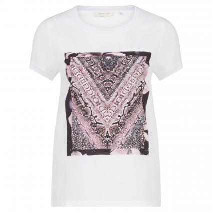T-Shirt mit Foto-Print weiss (100 white) | XS