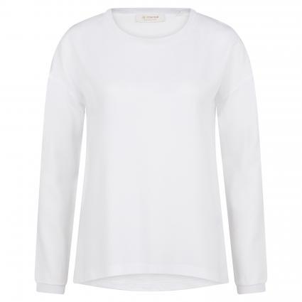 Blusenshirt mit Rundhalsausschnitt weiss (100 white) | L