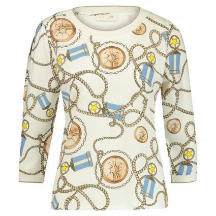 Langarmshirt mit Rippbündchen weiss (100 white)   M