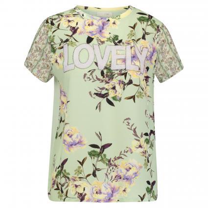 Blusenshirt mit floralem Print grün (732 jade mint) | M