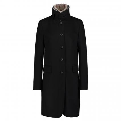 Mantel mit hohem Kragen schwarz (99) | 38