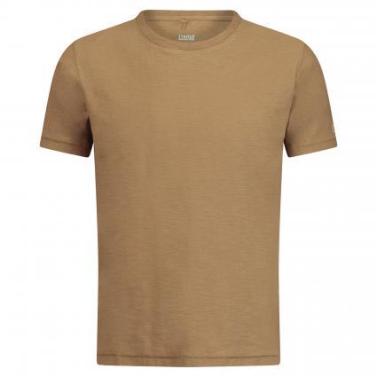 T-Shirt mit Rundhalsausschnitt beige (27) | L