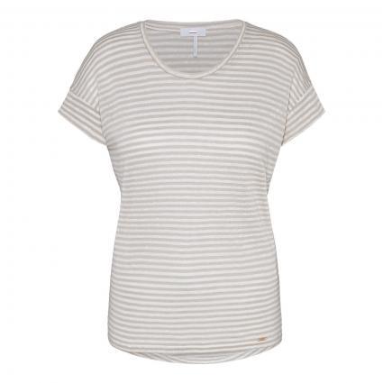 T-Shirt 'Citick' aus Feinstrick beige (10) | XS