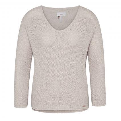 Pullover 'Ciblu' mit Strukturmuster beige (12) | L