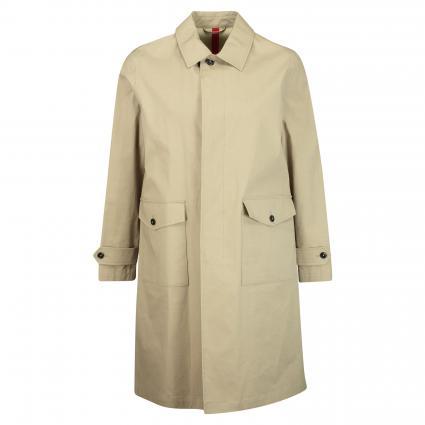 Mantel 'car coat' aus Baumwolle  beige (252 pebble) | S