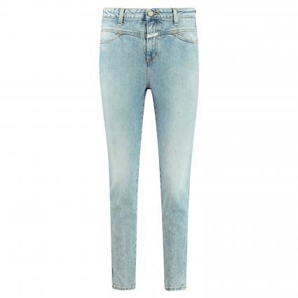 Highwaist-Jeans in Used-Optik blau (LBL light blue)   28