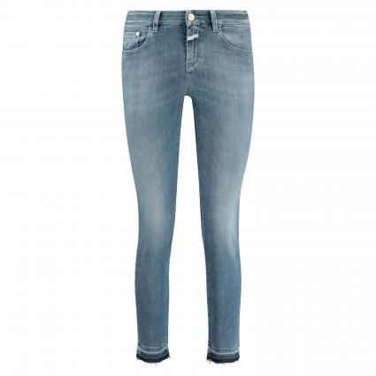 Slim-Fit Jeans 'Baker' mit offenen Saumkanten blau (MBL mid blue) | 27