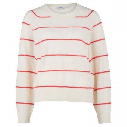 Pullover mit Streifenmuster ecru (218 ivory) | L