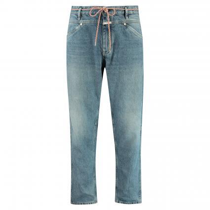 Verkürzte Relaxed-Fit Jeans 'x-lent' blau (MBL mid blue)   32