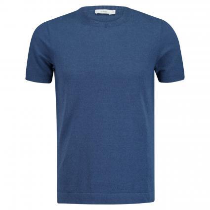 Frottee T-Shirt mit Rundhalsausschnitt blau (549 fading indigo) | XL