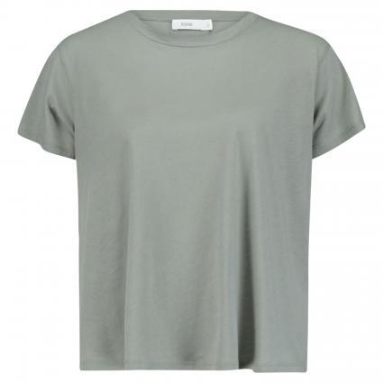 T-Shirt mit Rückenfalte oliv (691 dusty pine) | XS
