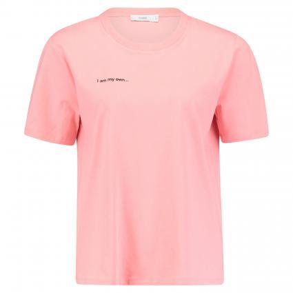 T-Shirt mit Schriftzug-Print orange (840 camellia) | L