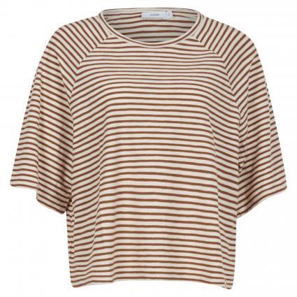 T-Shirt mit 3/4 Ärmeln braun (742 antique wood)   XS