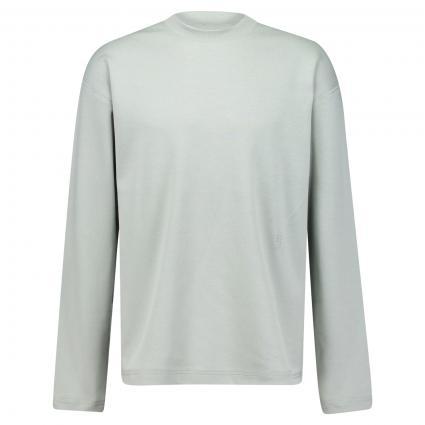 Sweatshirt mit Rundhalsausschnitt grün (662 celadon green)   L