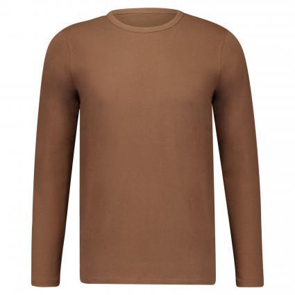 T-Shirt mit Rundhalsausschnitt camel (789 fallow brown) | M