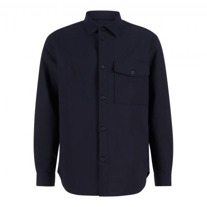 Regular-Fit Hemd 'Atelier Shirt' schwarz/blau-schwarz (500 black navy) | XL