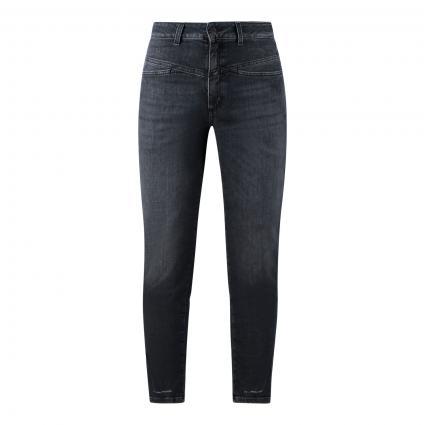 Highwaist Jeans 'Pedal pusher' anthrazit (DGY dark grey) | 36