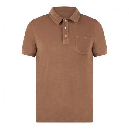 Poloshirt aus Frottee braun (766 hickory) | XL