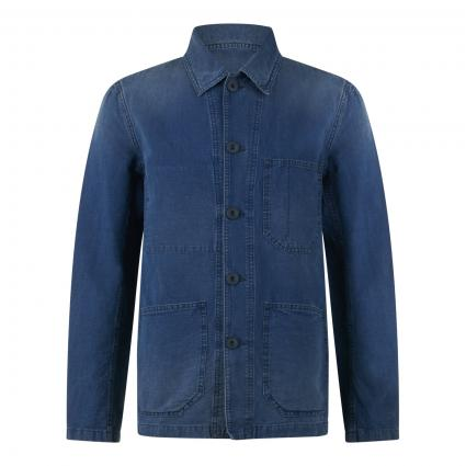 Worker Jacket in Denim-Optik blau (MBL mid blue) | S