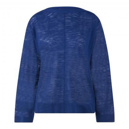 Pullover mit Rollsaumkante blau (539 cobalt blue)   L