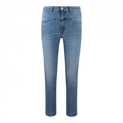 Highwaist Jeans 'Pedal Pusher' blau (MBL mid blue)   36