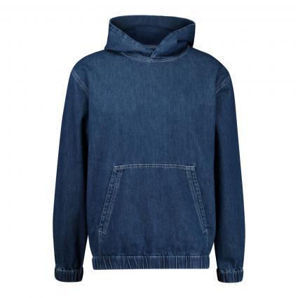 Denim Hoodie  blau (MBL mid blue) | L