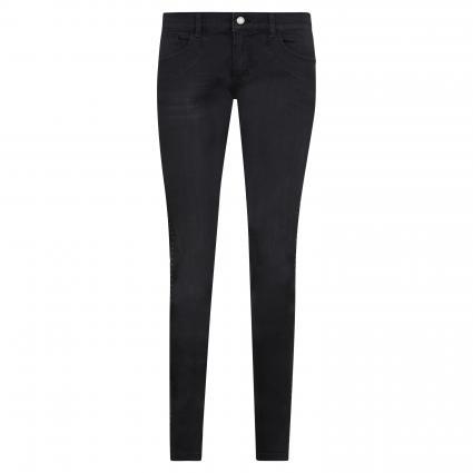 Jeans 'Patti Glam' mit Nieten-Galonstreifen schwarz (1058 black used buff)   40   31