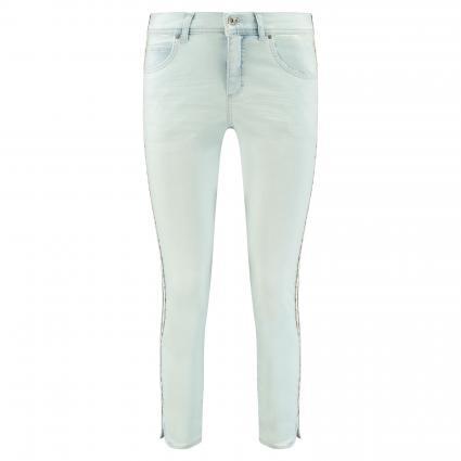 Jeans 'Ornella' mit dekorativem Galonstreifen blau (3658 ice blue used b)   36