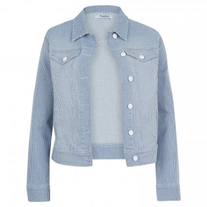 Jeansjacke mit Streifenmuster blau (345 light blue used) | XL