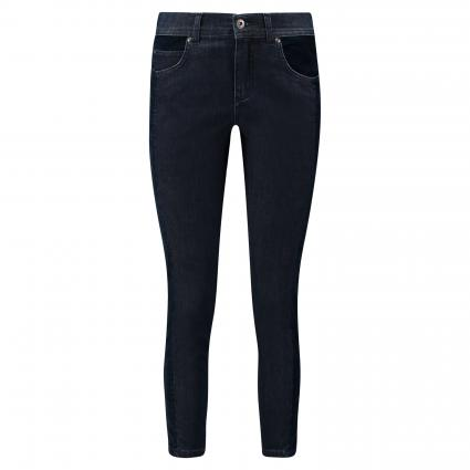 Slim-Fit Jeans 'Ornella Patch' blau (31 dark indigo) | 44