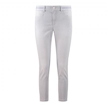 Jeans 'Ornella Sporty' Slim-Fit grau (145 light grey used) | 38