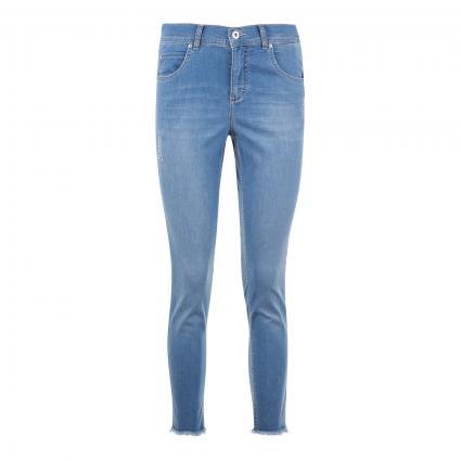 Jeans 'Ornella' mit Glitzer-Details blau (3488 light blue used) | 34