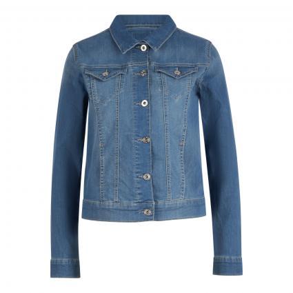 Leichte Slim-Fit Jeansjacke blau (3458 light blue used) | XS