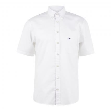 Hemd mit feinem Strukturmuster weiss (5000 white) | L