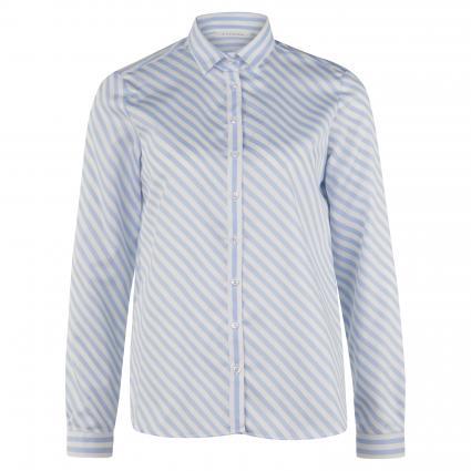 Bluse mit Streifenmuster blau (10 hellblau) | 46