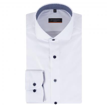 Slim-Fit Hemd mit Haifisch-Kragen weiss (00 weiss) | 44