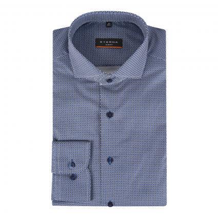 Slim-Fit Hemd mit Musterung marine (19 marine) | 39