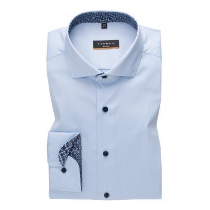 Slim-Fit Hemd mit Haifisch-Kragen blau (12 mittelblau) | 38