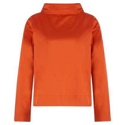 Blusenshirt mit weitem Stehkragen orange (86 Sonderfarben) | 38