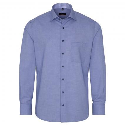 Modern-Fit Hemd mit All-Over Muster  blau (15 blau) | 42