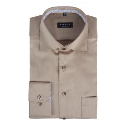 Comfort-Fit Hemd beige (25 beige-braun) | 44
