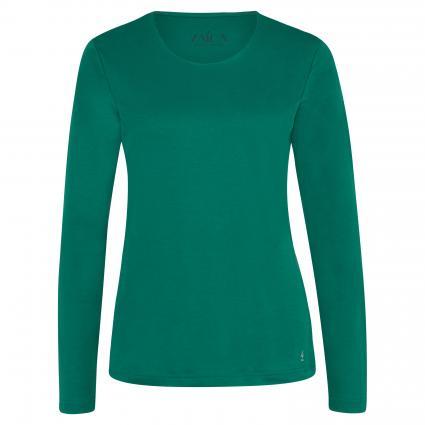 T-Shirt mit Rundhalsausschnitt grün (8012 bottle) | 40