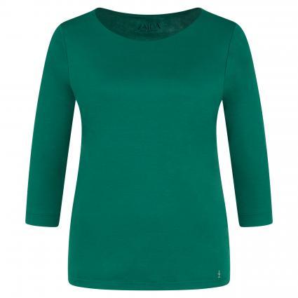 Shirt mit U-Boot Ausschnitt grün (8012 bottle)   38