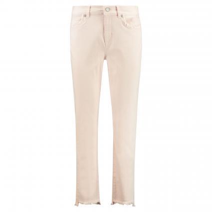 Jeans mit offenen Saumkanten rose (307 POWDER)   48