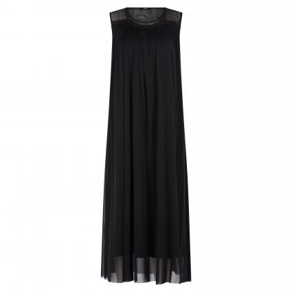 Ärmelloses Tüllkleid  schwarz (999 BLACK) | 42