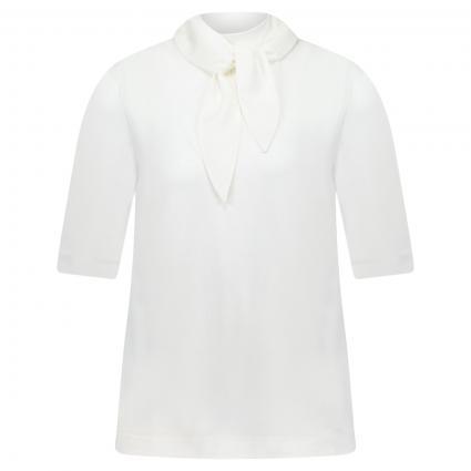 Blusenshirt mit Schluppendetail ecru (110 offwhite) | 40