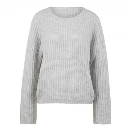 Wollpullover mit Raglanärmel in grober Rippenstruktur silber (902 silver grey)   44