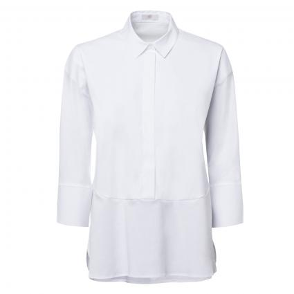Bluse mit Materialmix weiss (100 white) | 38