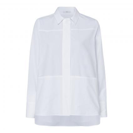 Bluse mit Saumtaschen weiss (100 white) | 36